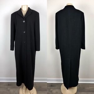 Marvin Richards Jackets & Coats - Marvin Richards Black Cashmere Peacoat/ Trench